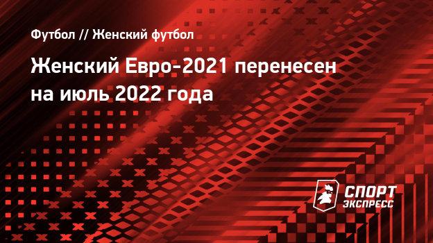 Чемпионат Европы по футболу среди женщин: турнир перенесён на июль 2022 года