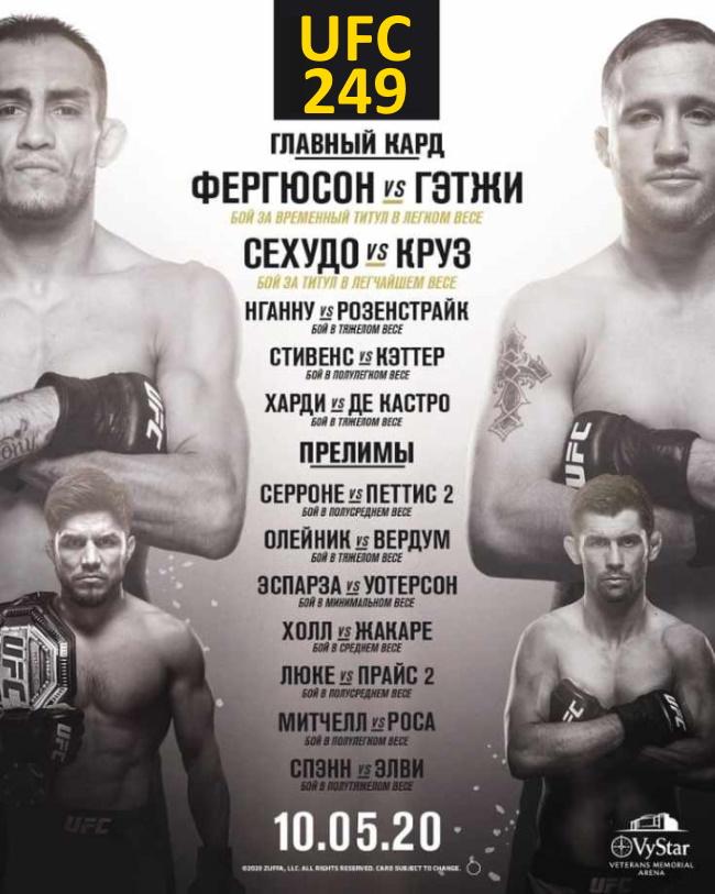 Участники и кард UFC 249
